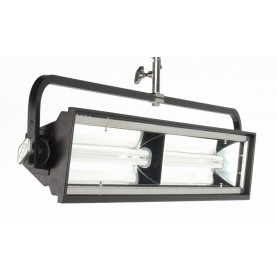 (Photo - Reference only - Includes Yoke Mount, built-in Parabolic intensifying Reflector, Gel Frame and Silver Louver)