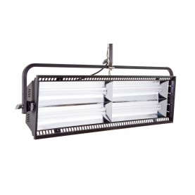 (Photo - Reference only - Includes Yoke Mount, built-in Parabolic intensifying Reflector, removable Gel Frame and Silver Louver)